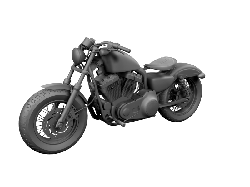 harley-davidson xl1200 sportster forty-eight 2014 3d model 3ds max dxf fbx c4d obj 157855