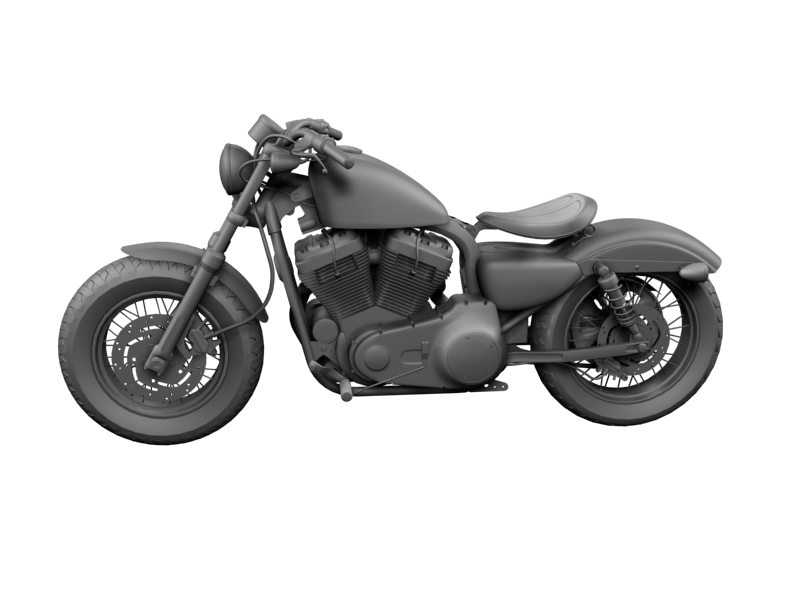 harley-davidson xl1200 sportster forty-eight 2014 3d model 3ds max dxf fbx c4d obj 157856