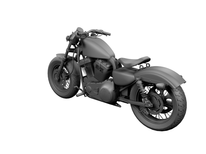harley-davidson xl1200 sportster forty-eight 2014 3d model 3ds max dxf fbx c4d obj 157857