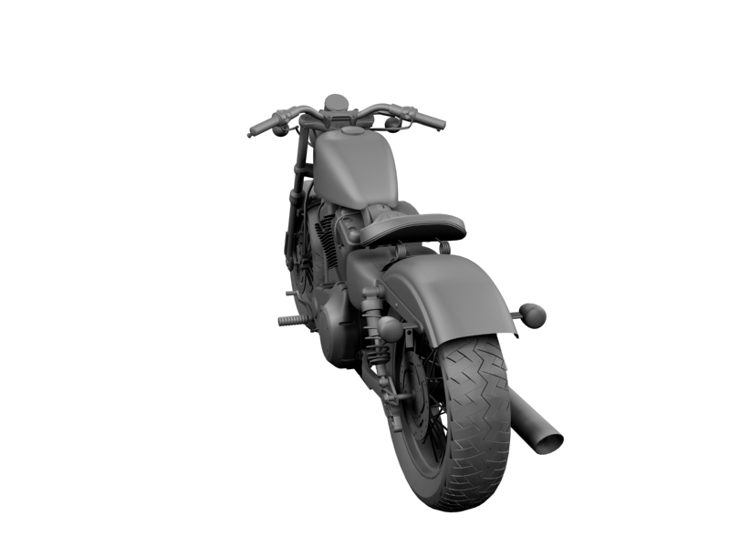 harley-davidson xl1200 sportster forty-eight 2014 3d model 3ds max dxf fbx c4d obj 157858