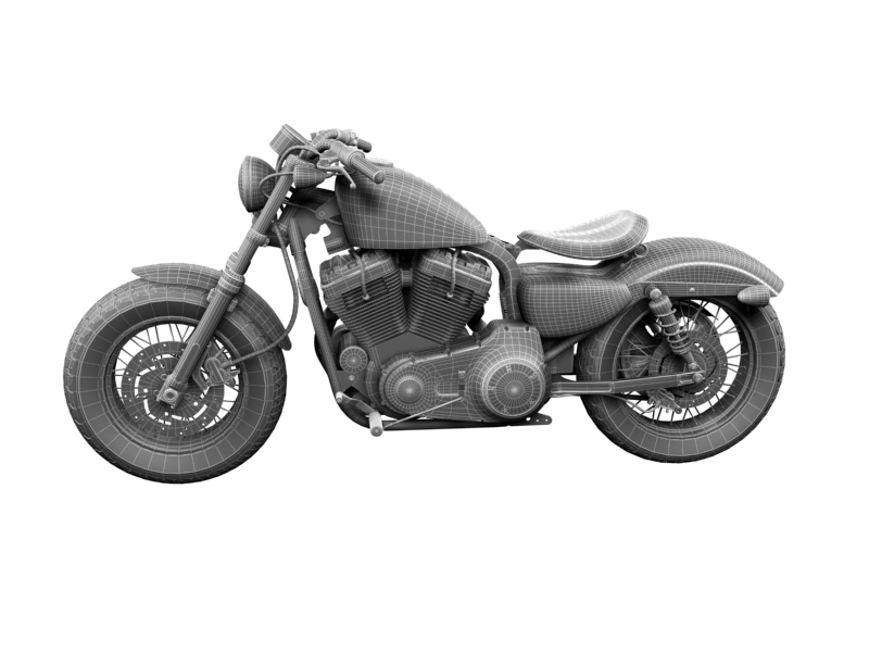 harley-davidson xl1200 sportster forty-eight 2014 3d model 3ds max dxf fbx c4d obj 157863