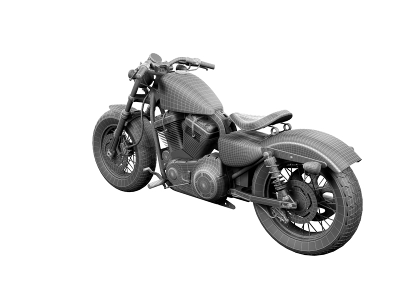 harley-davidson xl1200 sportster forty-eight 2014 3d model 3ds max dxf fbx c4d obj 157864