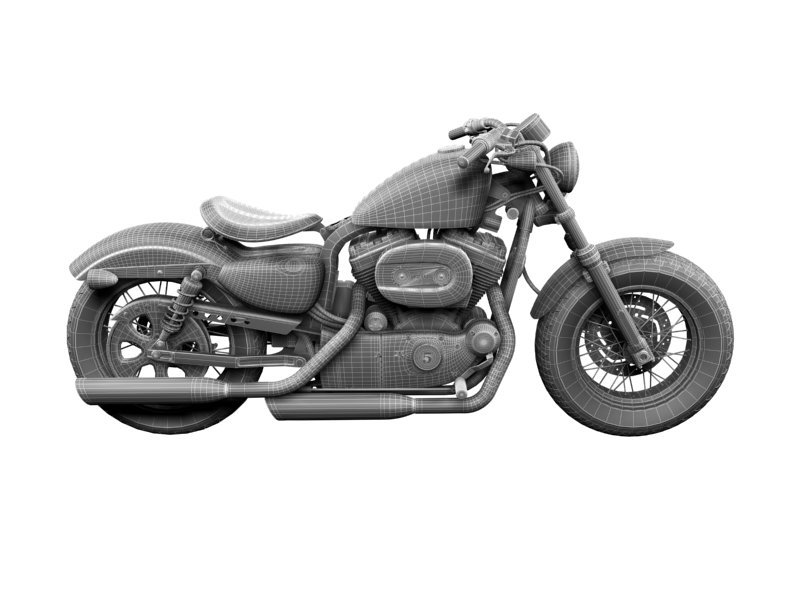 harley-davidson xl1200 sportster forty-eight 2014 3d model 3ds max dxf fbx c4d obj 157867