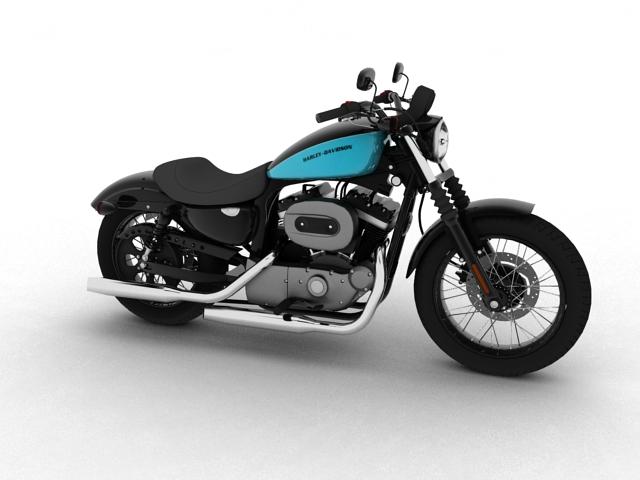 harley-davidson xl1200 sportster naktskrekls 2012 3d modelis 3ds maks.