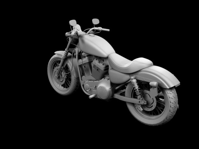 harley-davidson xl1200 sportster nightster 2012 3d model 3ds max fbx c4d obj 155079