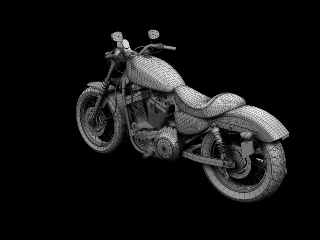 harley-davidson xl1200 sportster nightster 2012 3d model 3ds max fbx c4d obj 155086