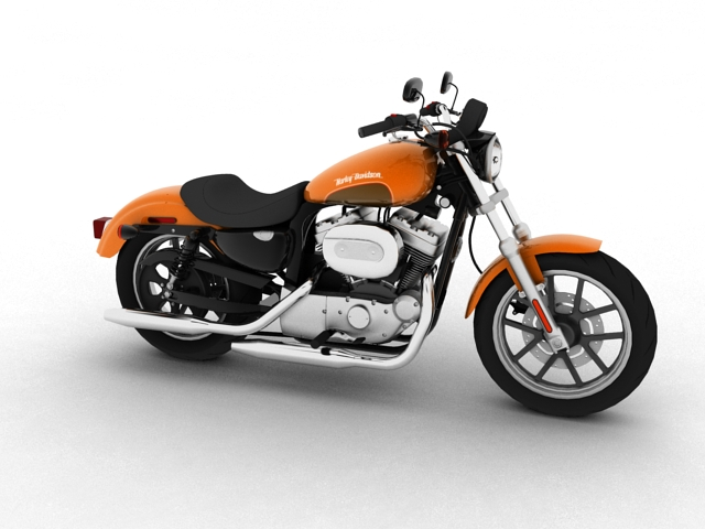 harley-davidson xl1200 sportster superlow 2013 3d model 3ds max fbx c4d obj 155118