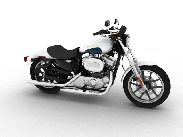 harley-davidson xl1200 sportster superlow 2013 3d model 3ds max fbx c4d obj 155119