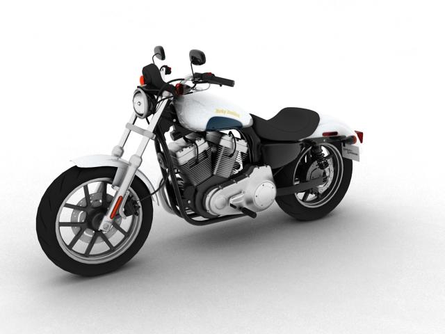 harley-davidson xl1200 sportster superlow 2013 3d model 3ds max fbx c4d obj 155122