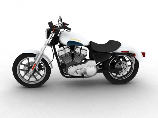 harley-davidson xl1200 sportster superlow 2013 3d model 3ds max fbx c4d obj 155123
