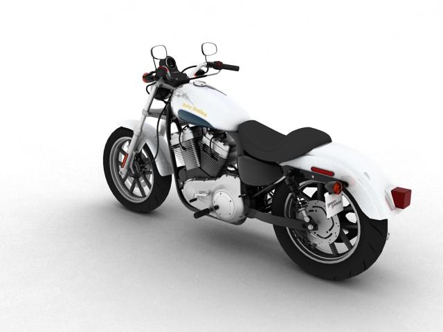harley-davidson xl1200 sportster superlow 2013 3d model 3ds max fbx c4d obj 155124