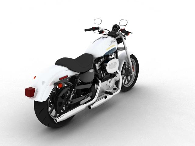 harley-davidson xl1200 sportster superlow 2013 3d model 3ds max fbx c4d obj 155126