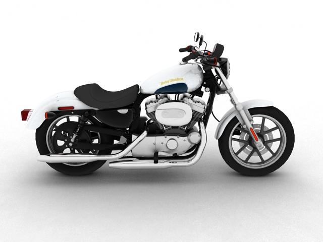 harley-davidson xl1200 sportster superlow 2013 3d model 3ds max fbx c4d obj 155127