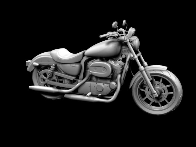 harley-davidson xl1200 sportster superlow 2013 3d model 3ds max fbx c4d obj 155128