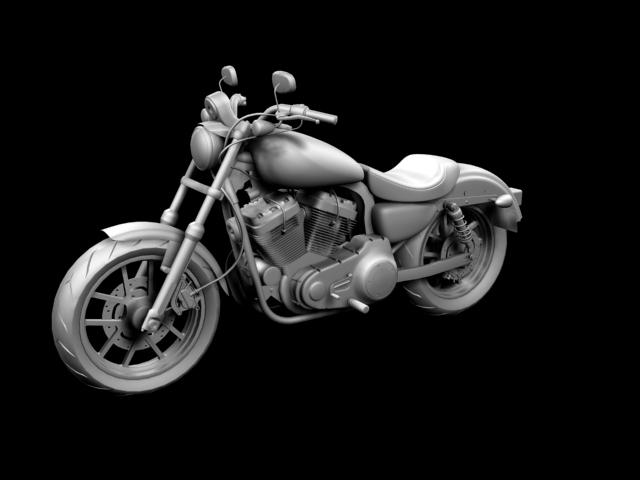 harley-davidson xl1200 sportster superlow 2013 3d model 3ds max fbx c4d obj 155129