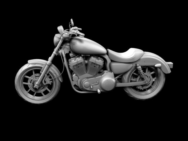 harley-davidson xl1200 sportster superlow 2013 3d model 3ds max fbx c4d obj 155130