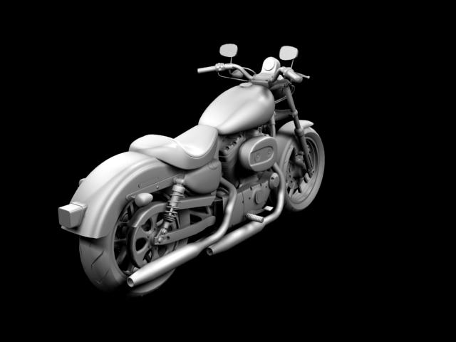 harley-davidson xl1200 sportster superlow 2013 3d model 3ds max fbx c4d obj 155133
