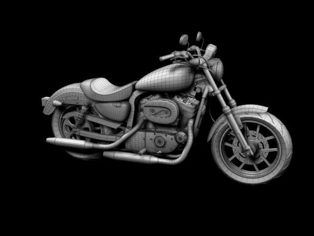 harley-davidson xl1200 sportster superlow 2013 3d model 3ds max fbx c4d obj 155135