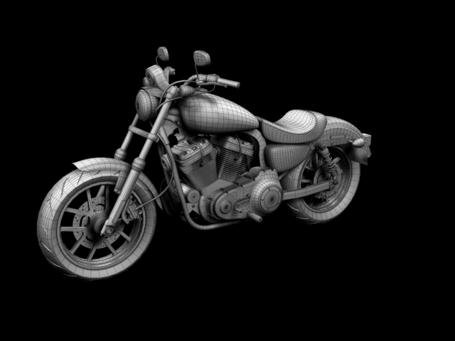 harley-davidson xl1200 sportster superlow 2013 3d model 3ds max fbx c4d obj 155136
