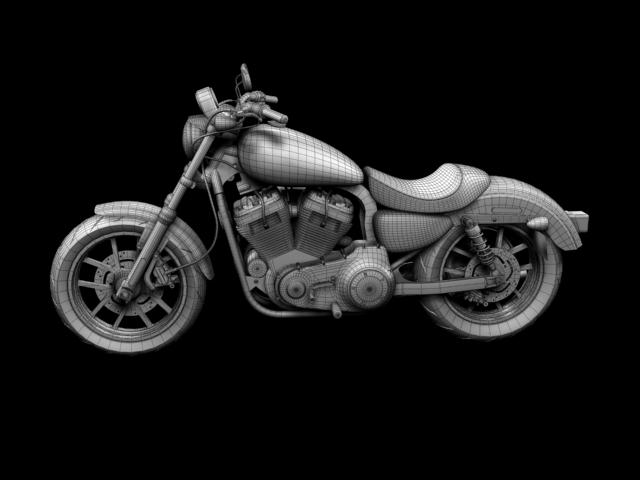 harley-davidson xl1200 sportster superlow 2013 3d model 3ds max fbx c4d obj 155137
