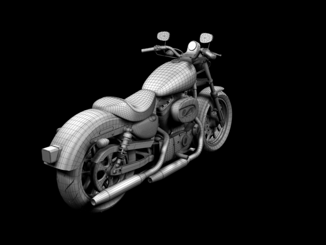 harley-davidson xl1200 спортын superlow 2013 3d загвар 3ds max fbx c4d obj 155140