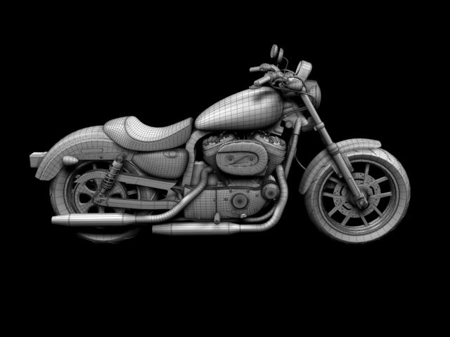 harley-davidson xl1200 sportster superlow 2013 3d model 3ds max fbx c4d obj 155141