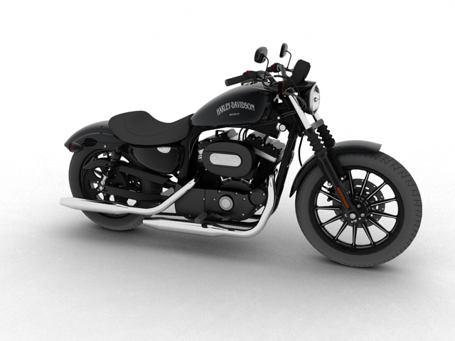 harley davidson xl883 sportster iron 2012 3d model 3ds max c4d obj 112674