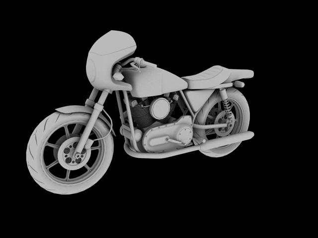 harley-davidson xlcr-1000 kafe racer 1977 3d model 3ds max c4d obj 151868
