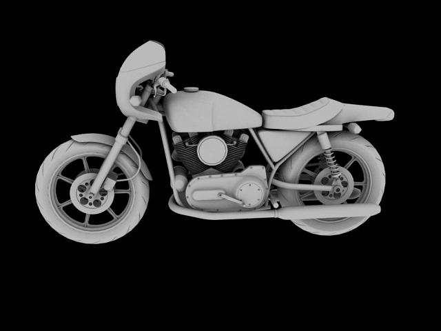 harley-davidson xlcr-1000 kafe racer 1977 3d model 3ds max c4d obj 151869