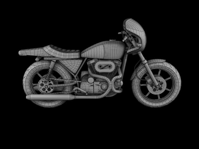 harley-davidson xlcr-1000 kafe racer 1977 3d model 3ds max c4d obj 151873