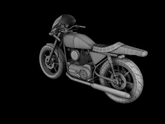 harley-davidson xlcr-1000 kafe racer 1977 3d model 3ds max c4d obj 151877