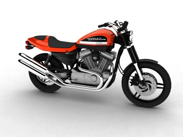 harley-davidson xr1200 2012 model 3d 3ds max c4d obj 148066