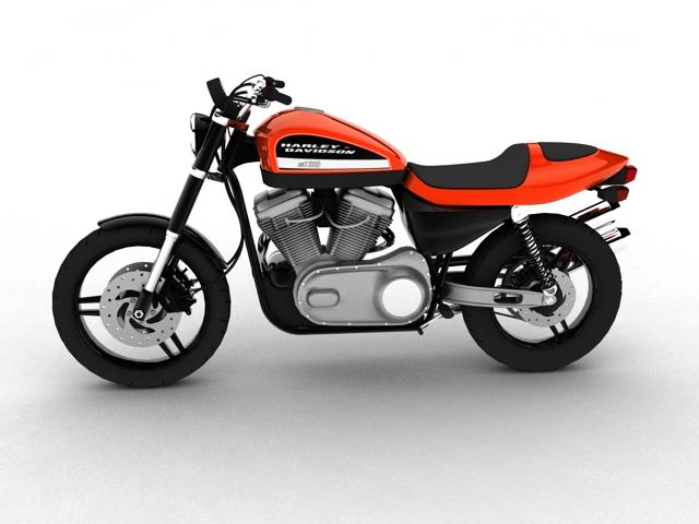 harley-davidson xr1200 2012 model 3d 3ds max c4d obj 148067