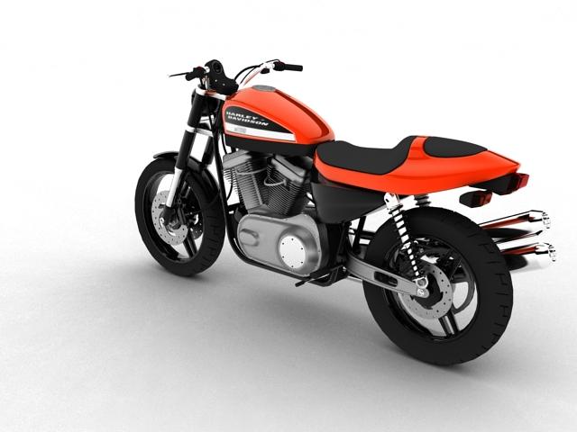 harley-davidson xr1200 2012 model 3d 3ds max c4d obj 148068