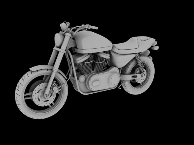 harley-davidson xr1200 2012 model 3d 3ds max c4d obj 148076