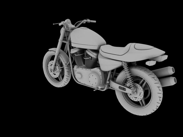 harley-davidson xr1200 2012 model 3d 3ds max c4d obj 148077