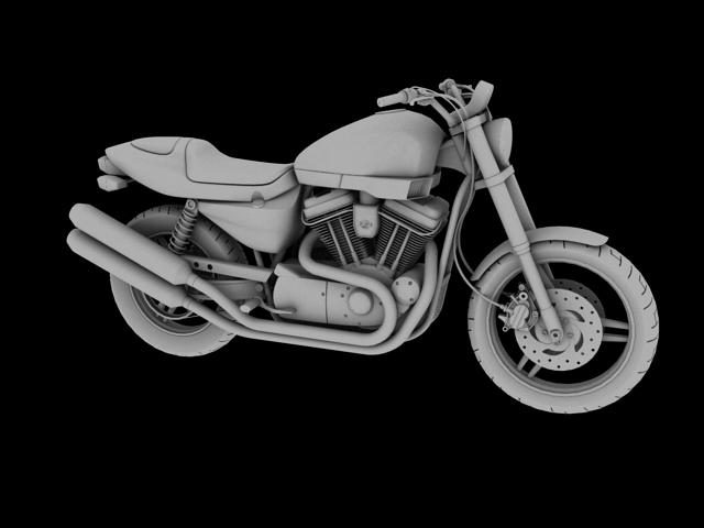 harley-davidson xr1200 2012 model 3d 3ds max c4d obj 148079