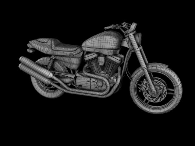 harley-davidson xr1200 2012 model 3d 3ds max c4d obj 148084