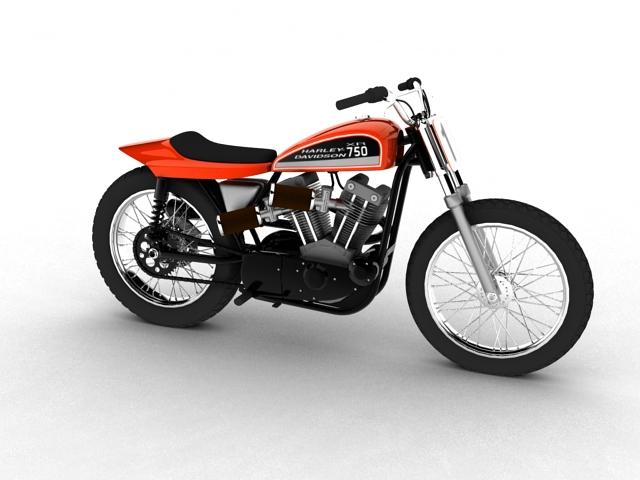 harley-davidson xr750 1970 3d model 3ds max c4d obj 151722