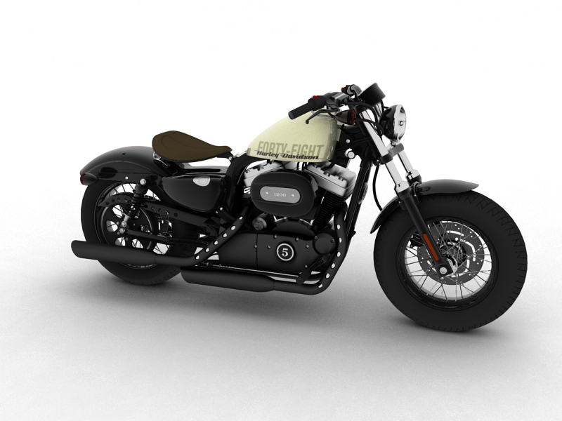 harley davidson xl1200 sportster forty eight 2014 3d model. Black Bedroom Furniture Sets. Home Design Ideas