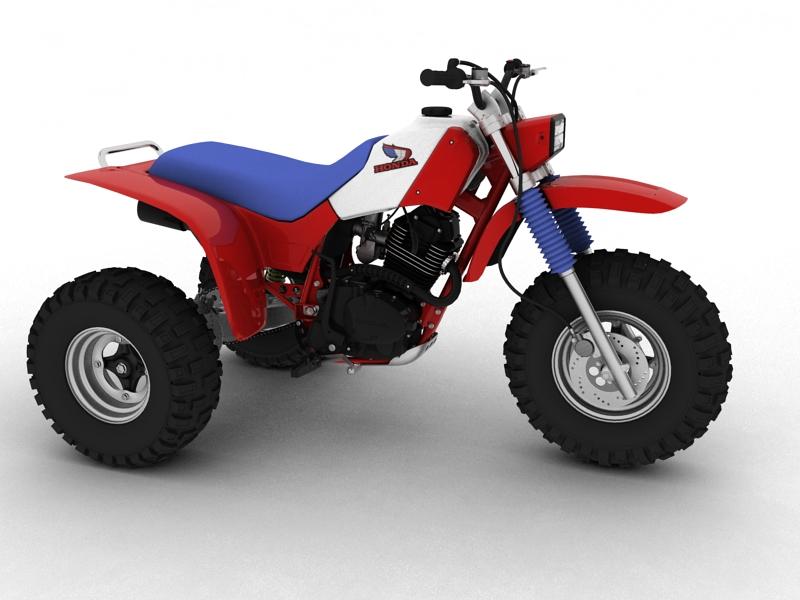 honda atc200x 1984 3d model 3ds max dxf fbx c4d obj 164385