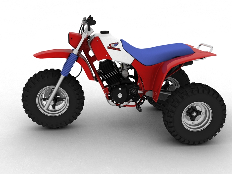 honda atc200x 1984 3d model 3ds max dxf fbx c4d obj 164389