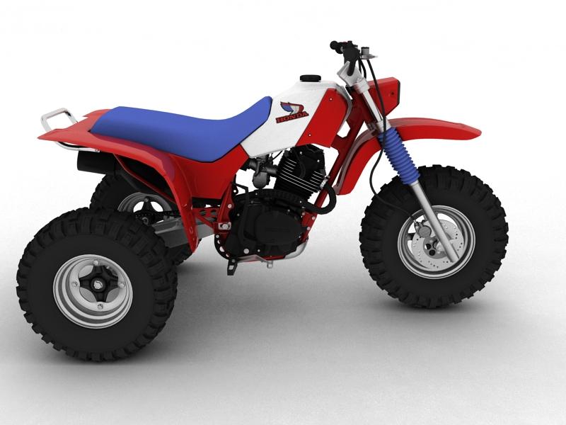 honda atc200x 1984 3d model 3ds max dxf fbx c4d obj 164393