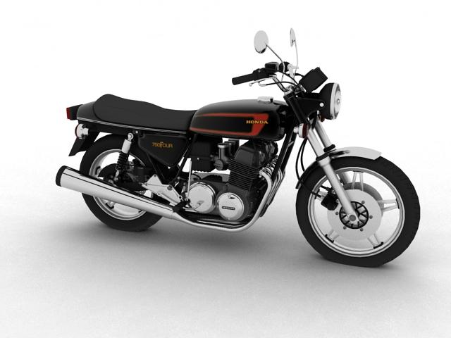 honda cb750 f2 1978 3d model 3ds max fbx c4d obj 154542