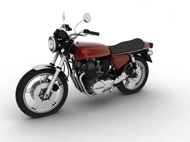 honda cb750 f2 1978 3d model 3ds max fbx c4d obj 154544