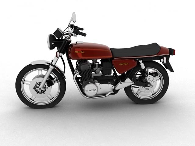 honda cb750 f2 1978 3d model 3ds max fbx c4d obj 154545