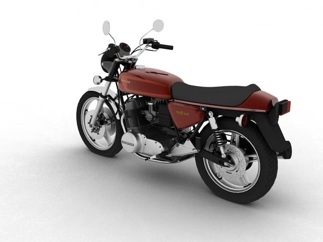 honda cb750 f2 1978 3d model 3ds max fbx c4d obj 154546