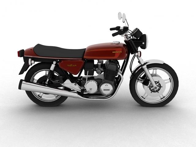 honda cb750 f2 1978 3d model 3ds max fbx c4d obj 154549