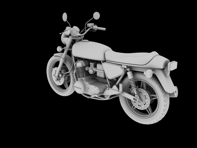 honda cb750 f2 1978 3d model 3ds max fbx c4d obj 154550