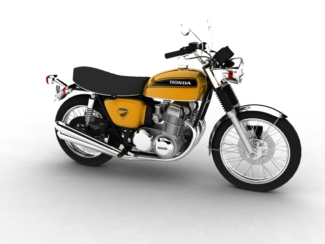 honda cb750 four k0 1969 3d model 3ds max fbx c4d 152499